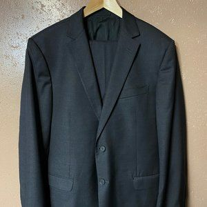 Z ZEGNA Solid Gray Suit US 44 R